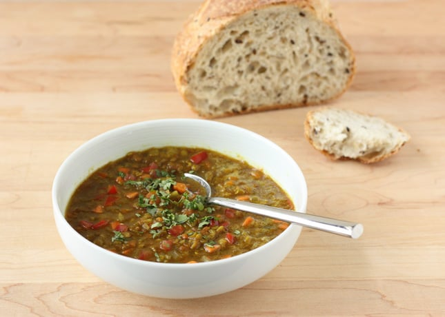 Fragrant Red Lentil and Tomato Soup