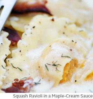 Squash Ravioli in a Maple-Cream Sauce by Amy McCoy // FoodNouveau.com