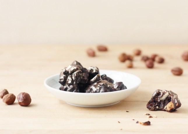 Dark Chocolate, Roasted Hazelnut, and Dried Cherry Bites // FoodNouveau.com
