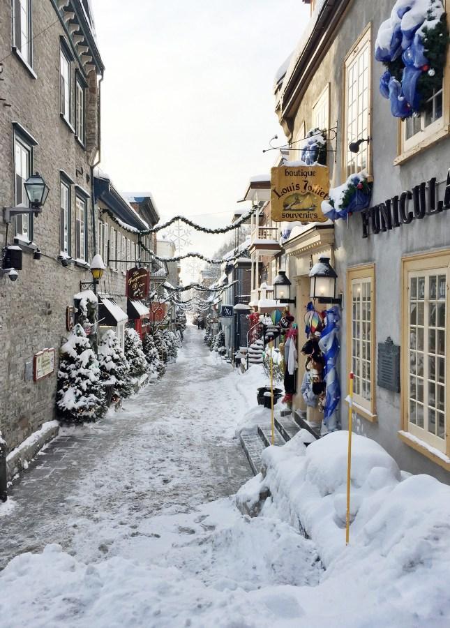 Rue du Petit Champlain, one of Quebec City's most atmospheric streets // FoodNouveau.com