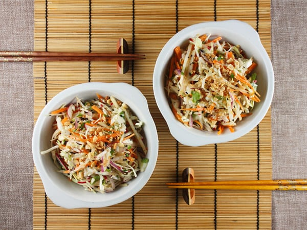 Asian Cole Slaw with Wasabi Dressing // FoodNouveau.com