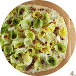 Brussels Sprout and Pancetta Pizza // FoodNouveau.com