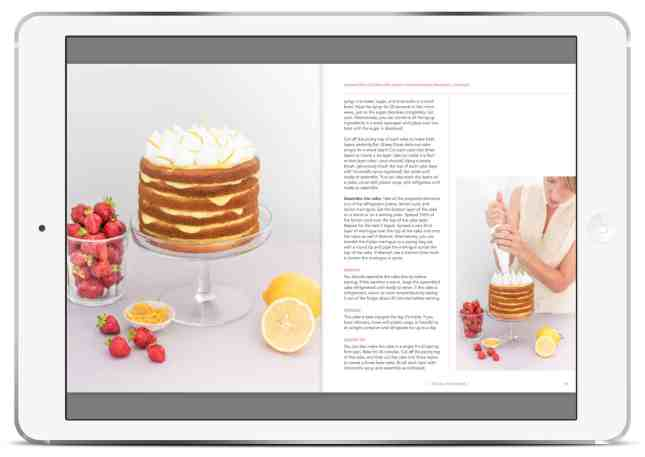 Spread from the dessert cookbook Sweet Spot: Modern, Better-for-You Dessert Recipes, with Clever Tips to Bake (Mostly) Dairy Free, by Marie Asselin // FoodNouveau.com