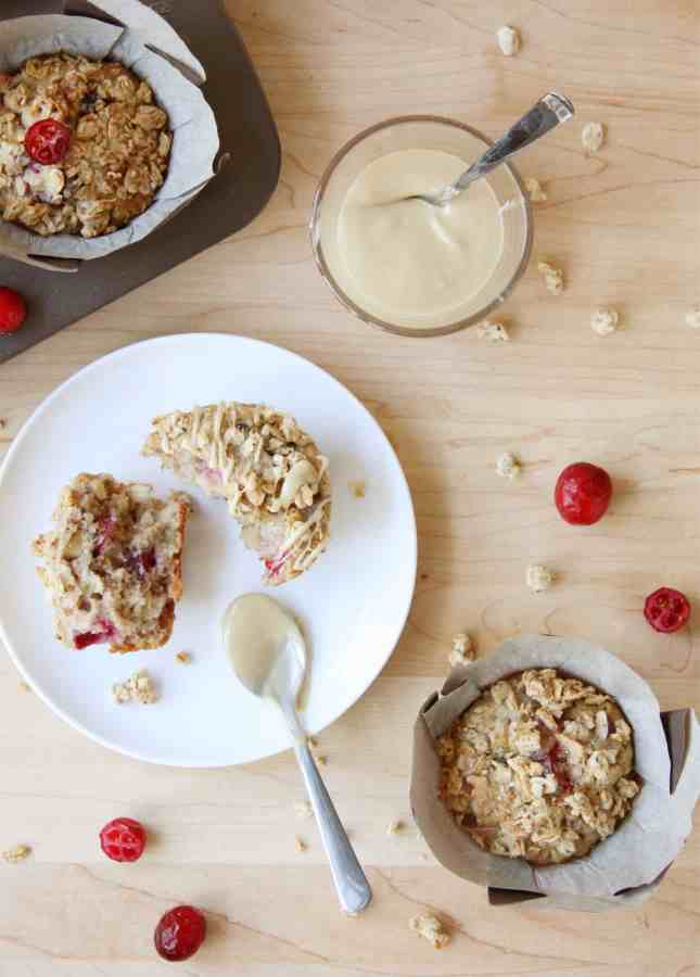 Recipe for Maple and Cranberry Granola Muffins (Dairy Free) // FoodNouveau.com