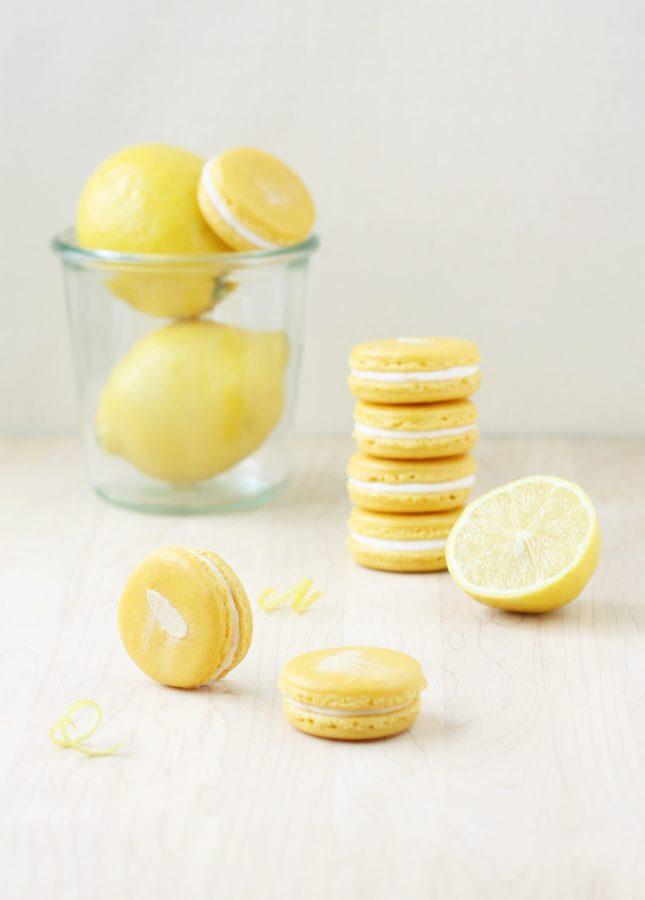 Lemon Mascarpone Macarons // FoodNouveau.com