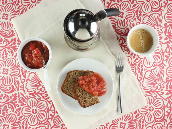 Rhubarb with Fresh Strawberry Compote // FoodNouveau.com