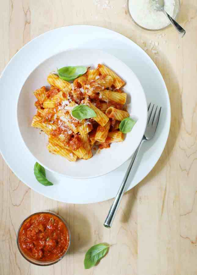 Pasta All'Amatriciana, an easy Italian classic you'll fall in love with at first bite. // FoodNouveau.com