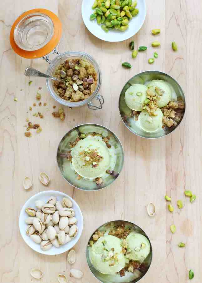 Pistachio Gelato, Made with Homemade Pistachio Paste // FoodNouveau.com