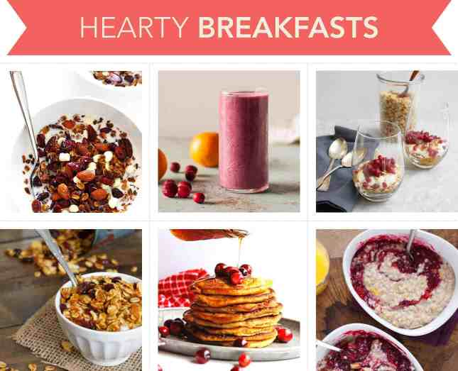 Holiday-worthy recipes to make hearty breakfasts with cranberries // FoodNouveau.com