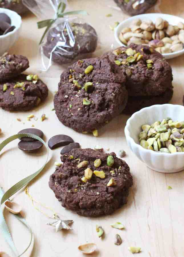 Triple Chocolate Pistachio Cookies // FoodNouveau.com