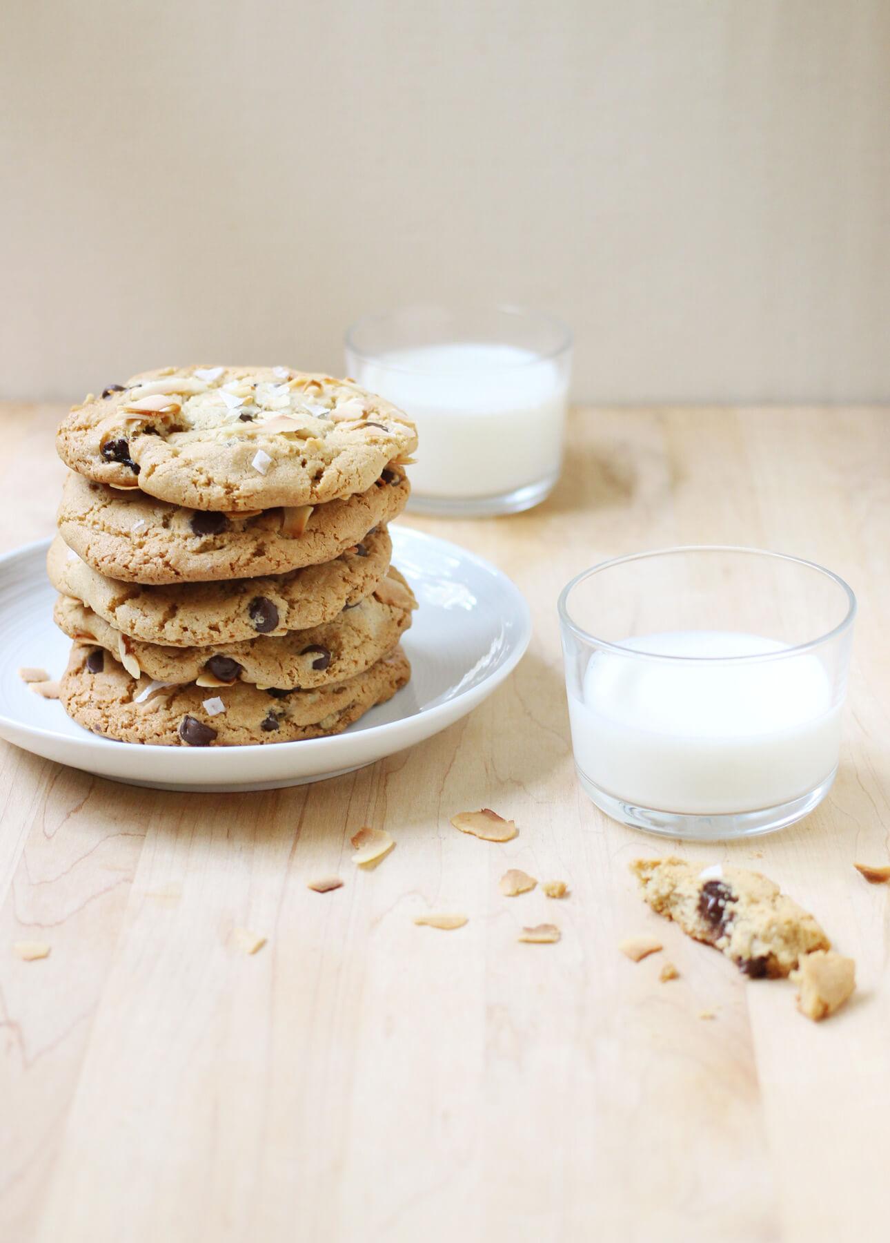 Giant Coconut Tahini Cookies