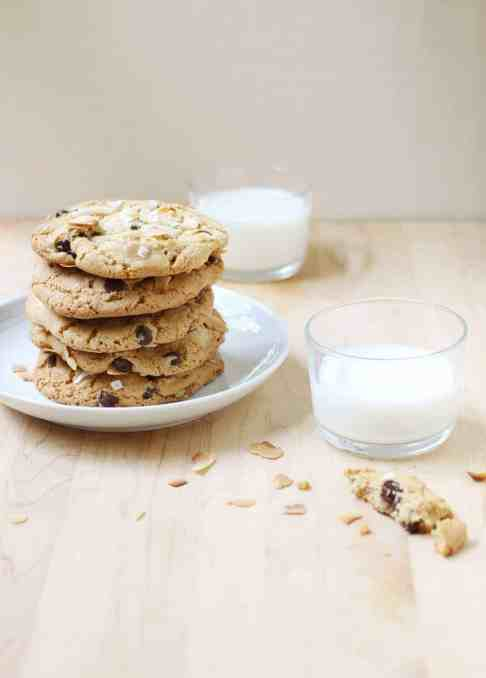 Giant Coconut Tahini Cookies