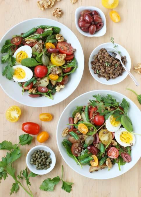 Lentil Niçoise Salad