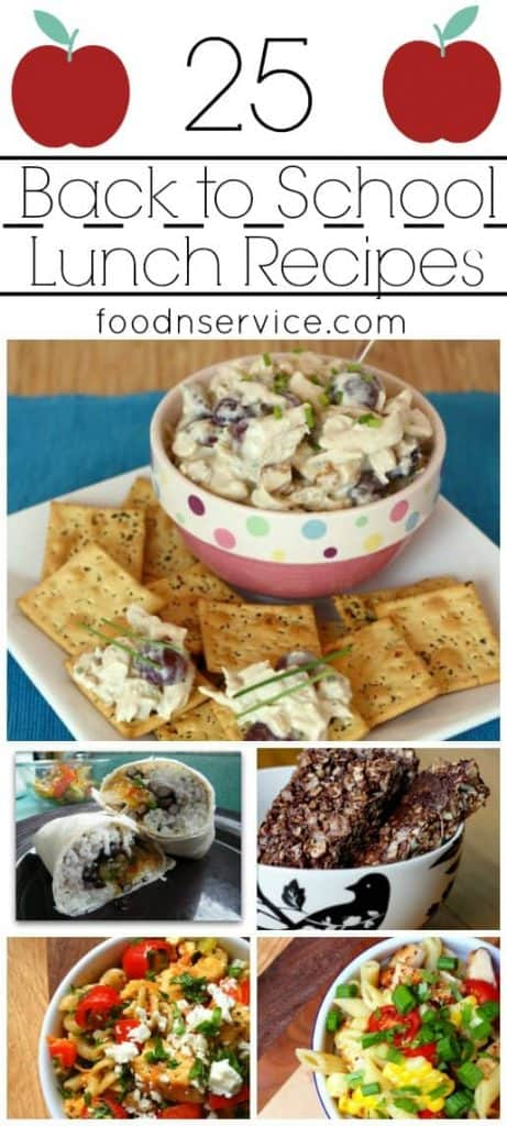 easy to make back to school lunches
