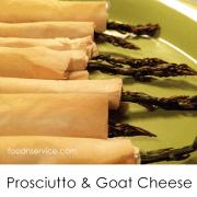 Asparagus, Prosciutto  And Goat Cheese Appetizer