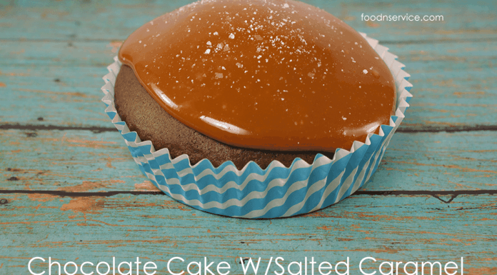 Easy Chocolate Cake with a delicious salted caramel sauce.