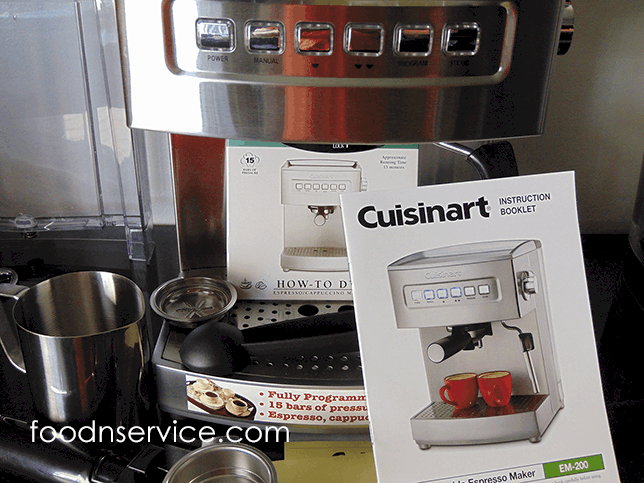 Cuisinart Programmable Espresso Machine Model EM-200 Product Review