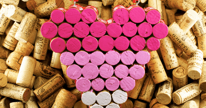How To Make A Wine Cork Heart Trivet