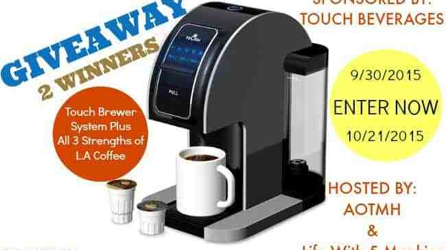 Touch Single Serve Brewer Machine Giveaway!