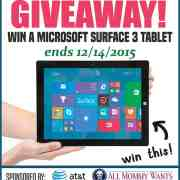 Microsoft Surface 3 LTE Tablet Giveaway!