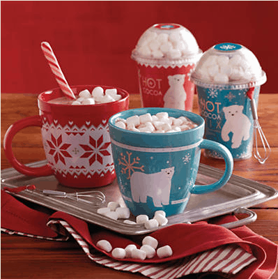 Holiday Hot Chocolate Gift Set with Mugs