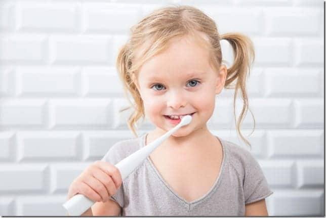 kolifree toothbrush in play