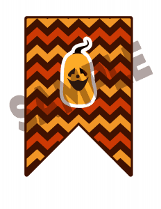 Halloween printable bunting flag