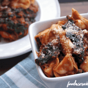 Spinach Cheese Tortellini With Italian Sausage