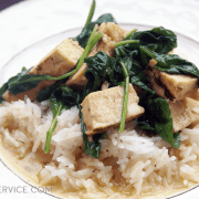 Grilled Chicken and Rice with Sage Butter Sauce