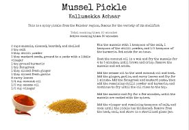 Mussel Pickle