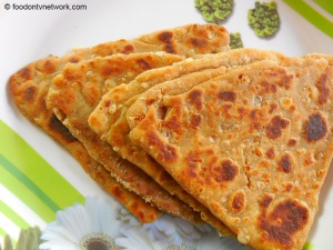 Maski Paratha Recipe. Innovative or creative Indian Flat Bread.