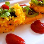 Poha Dhokla. Indian Fast Food Recipe.