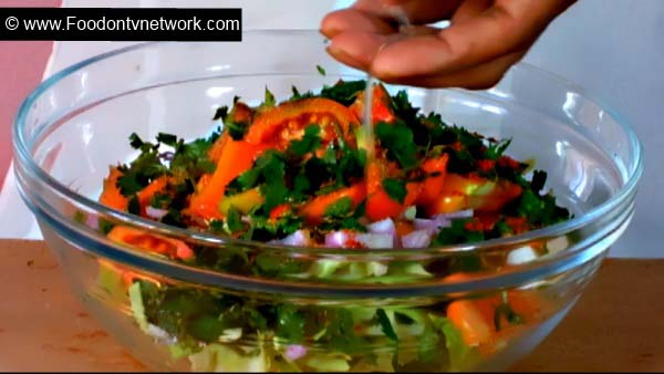 Home Made Onion and Cabbage Salad Recipe, Best Salad Recipe, Cabbage Salad Recipe, Quick Cabbage salad Recipe.
