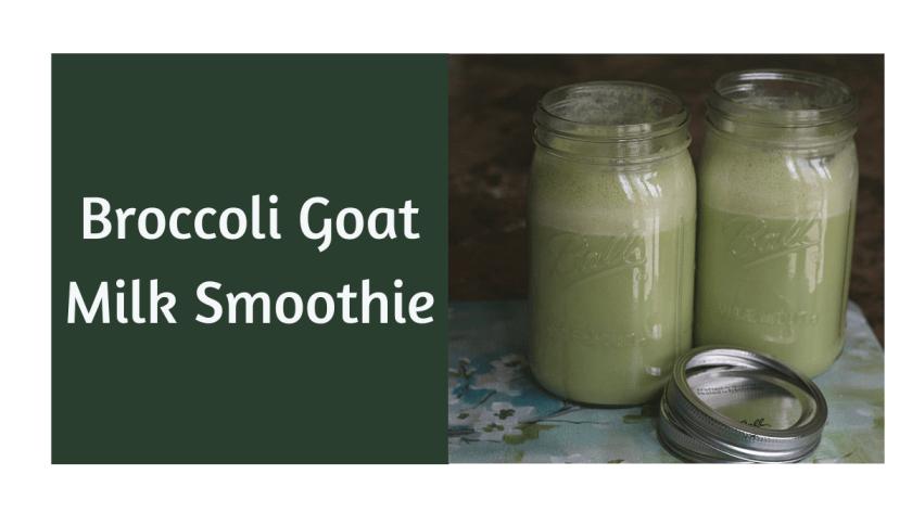 broccoli goat milk smoothie