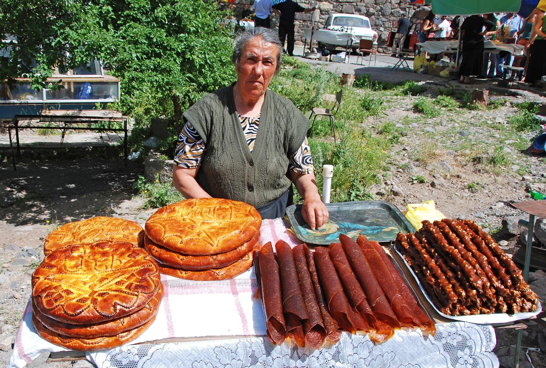 Geghard - Street Vendor