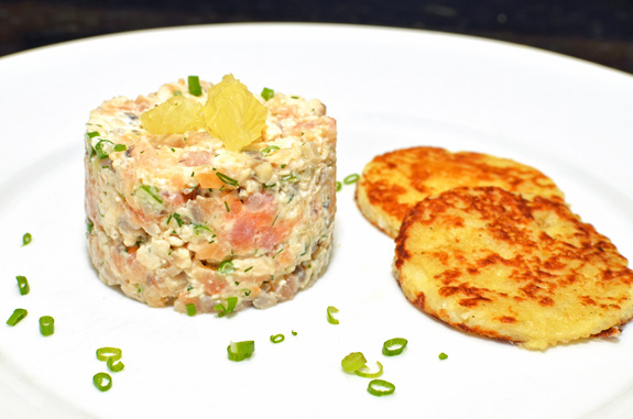 Hunting and Fishing - WIld Turkey and Trout Tartare