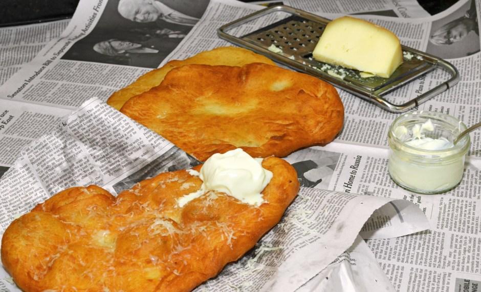 Hungarian Food - Lángos