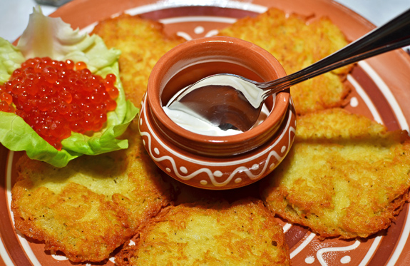 Taras Bulba - Potato Pancakes and Salmon Roe