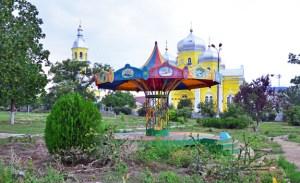 Comrat - Park and Orthodox Church