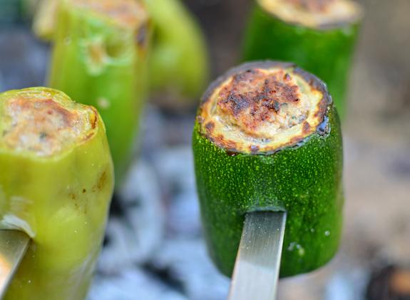 Stuffed Vegetable Shashlyk