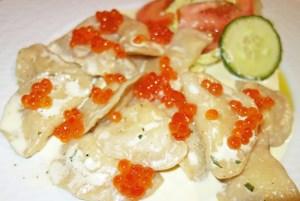Resto Ukraine - Potato Vareniki with Salmon Roe