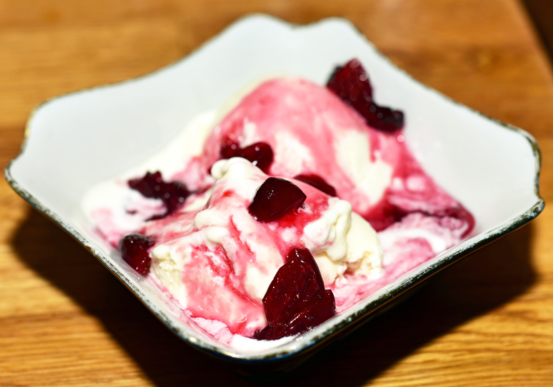 Uzbek Cuisine - Uma's - Sour Cherry Ice Cream
