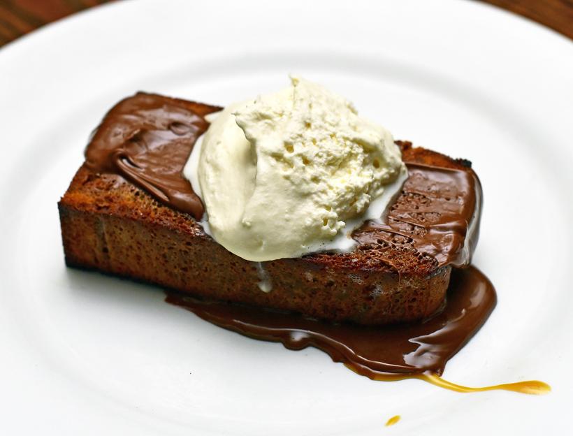 Doma Na Rohu - Nutella Bread Pudding