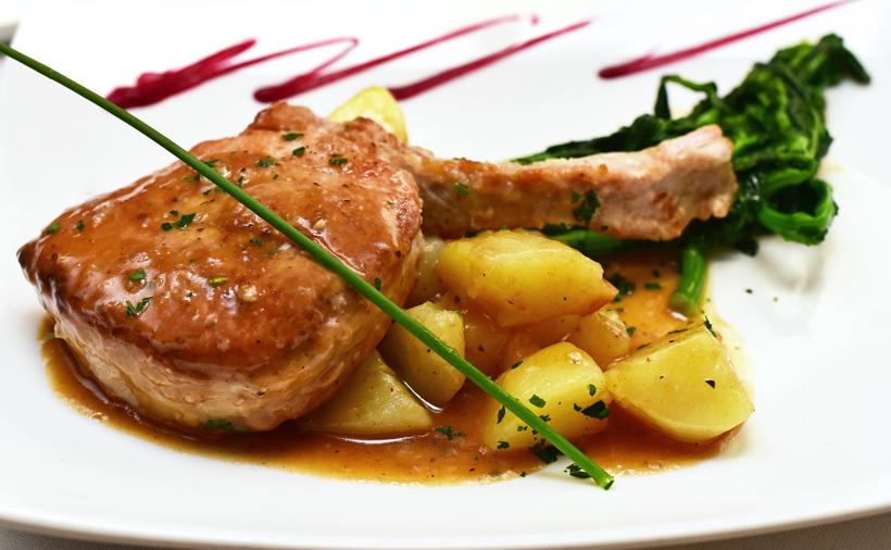 New Rochelle - Dubrovnik Restaurant - Pork Chop Samobor Style