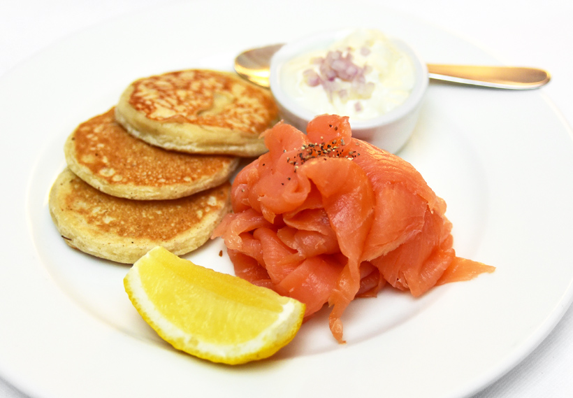 London - Baltic Restaurant - Blini with Smoked Salmon