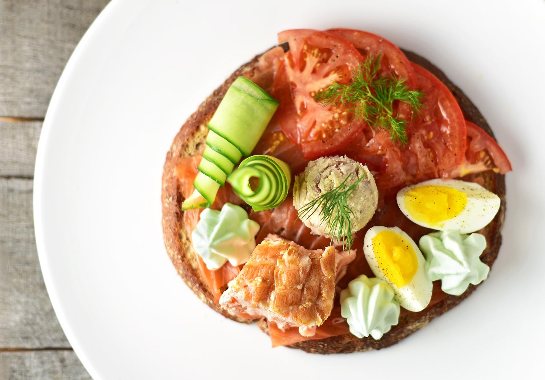Czech Cuisine - Giant Trout and Salmon Chlebíček