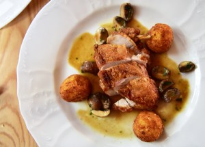 Czech Republic - Lednice - Grand Moravia Restaurant - Chicken with Cheese Croquettes