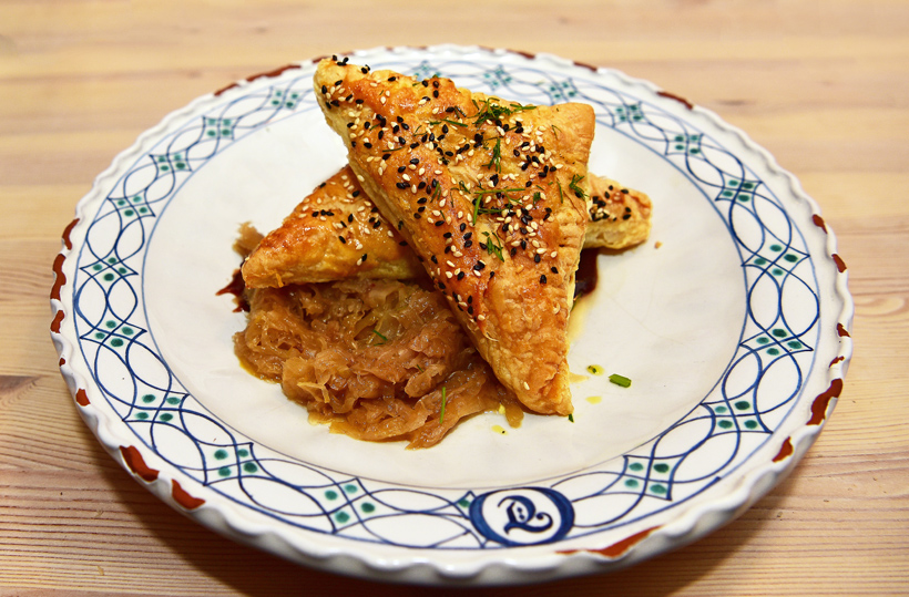 Czech Republic - Mikulov - Marcel Ihnačák Restaurant - Duck Pastry, Cabbage, Plum Sauce