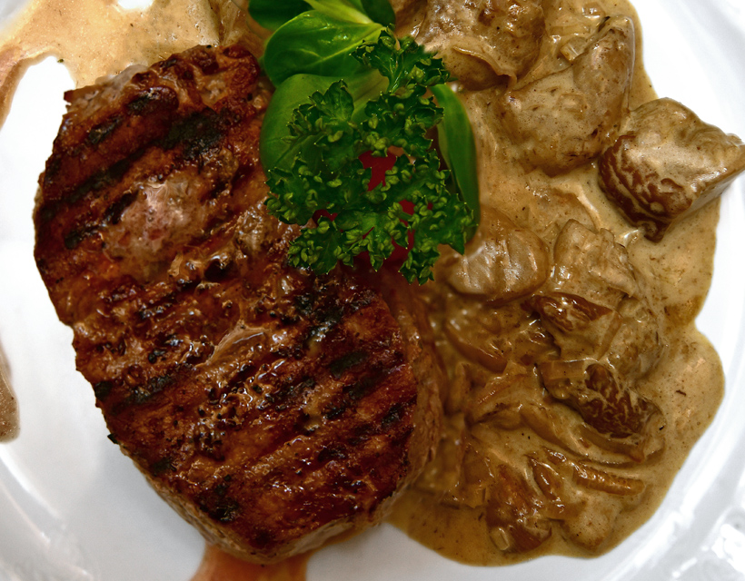 Czech Republic - Moritz Restaurant - Veal Steak with Mushroom Stew