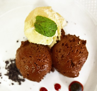 Sopron - Erhardt Restaurant - Chocolate Mousse and Sour Cherry Coulis